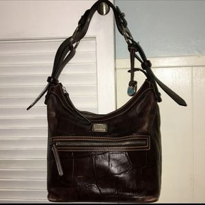 Dooney and Bourke Croc Slouch Hobo Bag